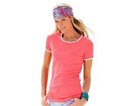 Tričko s bílými lemy | blancheporte.cz #blancheporte #blancheporteCZ #blancheporte_cz #tshirt V Neck, Tops, Women, Fashion, Moda, Women's, La Mode, Shell Tops, Fasion