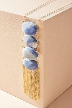 Tumbled Stone Ladder Pendant Necklace