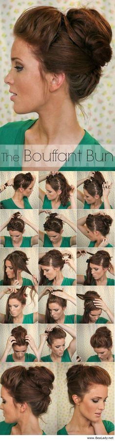 Super Easy Knotted Bun Updo and Simple Bun Hairstyle Tutorials - Even though Im still confused as to how she did this! I love the look:
