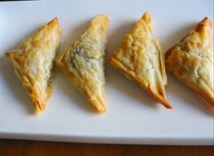 Greek Spinach & Fetta Puff Pastry: appetizer for party