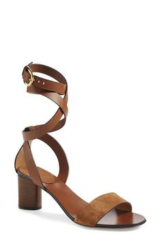 Free shipping and returns on Gucci 'Candy' Suede & Leather Sandal (Women) at Nordstrom.com. Smooth leather and rich suede interplay on a sophisticated, open-toe sandal that flatters the leg with a wraparound ankle strap. A triangular stacked heel gives modern lift while lending a signature touch.