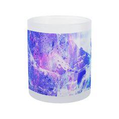 Amethyst Yule Night Dreams Frosted Glass Coffee Mug
