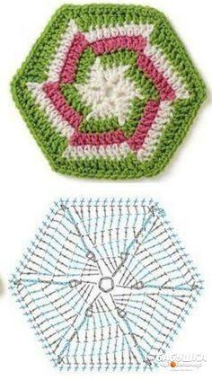 БАБУШКА ЧУДОДЕЛЬНИЦА | VK Crochet Motif Patterns, Granny Square Crochet Pattern, Crochet Diagram, Crochet Squares, Crochet Chart, Scrap Yarn Crochet, Crochet Blocks, Crochet Cushions, Crochet Doilies