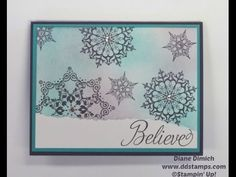 Faux Paper Rubber Stamping Technque with the Stampin' Up Snowflake Soiree stamp set