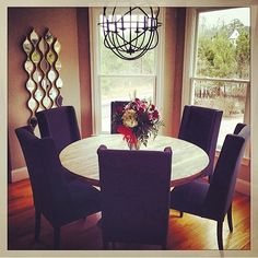 Bright + cozy dining nook. Karma Dining Table + Bedford Dining Chair
