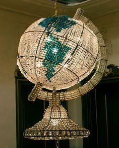 unique huge Globe crystal chandelier design, Photo  unique huge Globe crystal chandelier design Close up View.