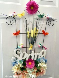 spring garden door decor, doors, home decor, seasonal holiday decor