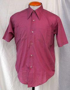 Men's 1970s Montgomery Wards Purple Button-Up Shirt