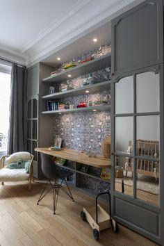 Interior Decorating, Interior Design, Kids Decor, Home Decor, Boy Room, Kids Bedroom, Shelves, Contemporary, Living Room