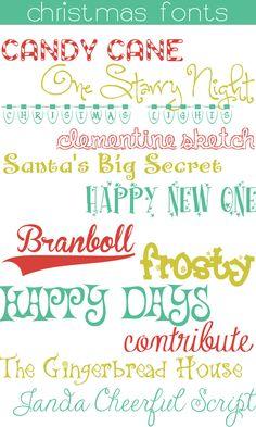 12 Free Christmas Fonts ~~ {w/ links}