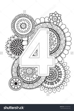 Doodle floral letters coloring book for adult mandala and doodle floral letters coloring book for adult mandala and sunflower abc isolated vector elements capital letter english alphabet 432987793 thecheapjerseys Images