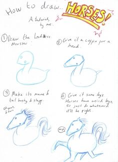 Crazy horses. | 17 Diagrams That Will Help You Draw (Almost) Anything