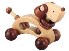 [Play Me Toys プレイミートーイズ]ドギー ナチュラル 大切な赤ちゃんのはじめてのおもちゃとしておすすめの、可愛い木製玩具です。