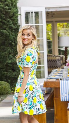 Reese Witherspoon in a dress from her line, Draper