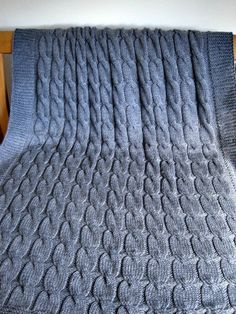 Hand knitted THROW, super soft Bamboo/Wool Mix by BJDesignEmbroidery on Etsy