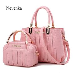 Nevenka Tote Evening Alligator Pattern Bag(Set of 2) - 7 Colors Up For Grabs
