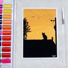 Simple Canvas Paintings, Small Canvas Art, Mini Canvas Art, Small Paintings, Watercolor Art Lessons, Watercolour, Cool Art Drawings, Polaroid, Ideas