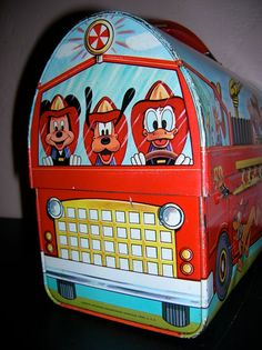 Mickey Mouse 1960's Fire Fighter Lunch Box by by BeadingDreamLace, $60.00