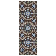 Indoor/Outdoor Fiesta Brown Rug (2' x 6') - Overstock™ Shopping - Great Deals on Runner Rugs