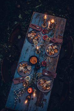 Rustic Barn Gathering - dinner outside Wicca, Autumn Aesthetic, Deco Table, Decoration Table, Rustic Barn, Samhain, Dinner Table, Fall Halloween, Tea Party