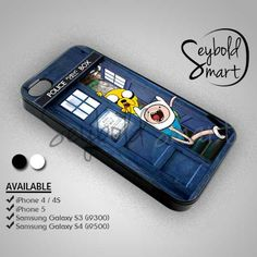Adventure Time In Tardir Dr Who Box - iPhone 4/4s/5 Case - Samsung Galaxy S3/S4 Case - Black or White