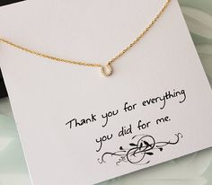 Gold Horse Shoe Necklace Gold Pendant Dainty by DapriDaintyJewels