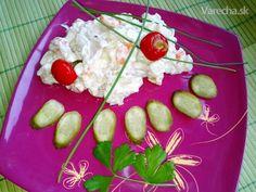 Kurací šalát s vajcom a so zeleninou (fotorecept) - Recept