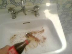 The Effects Of Using Coke To Clean A Dirty Sink!!!