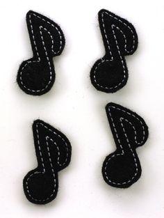 Felt Embellishments  Music Notes  RTS by ZandyLand on Etsy,