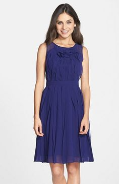 Adrianna Papell Paneled Chiffon Fit & Flare Dress available at #Nordstrom