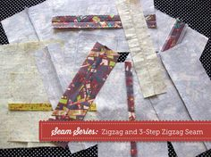 """Seam Series: Zigzag and 3-Step Zigzag Seam Finishing -  One of the easiest ways to finish the edges of the seam allowance inside your project is with the humble zigzag stitch. It is like a serger stitch in that you can """"wrap"""" the threads around t"""