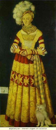 Lucas Cranach the Elder. Portrait of Duchess Katharine of Mecklenburg. 1514. Oil on wood. Alte Meister Gallerie, Dresden, Germany.