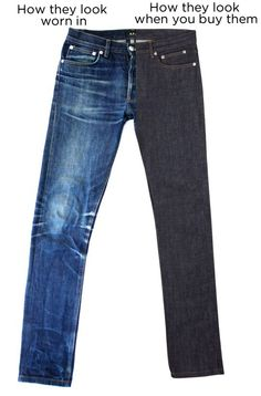 18 important things about Raw Denim. tips on how to get the fade you want etc
