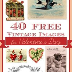 40 Free Vintage Valentine's Day Images from the Graphics Fairy My Funny Valentine, Valentine Images, Saint Valentine, Valentine Day Love, Valentine Day Crafts, Vintage Valentines, Holiday Crafts, Lily Valentine, Valentine Stuff