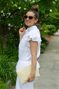 c72ac6a1 La Mariposa Summer Dress: Express Off the Shoulder Ruffled Denim ...