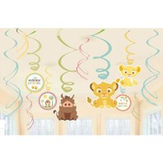 Lion King Baby Shower Hanging Swirl Decorations Party Accessory Disney by Amscan, http://www.amazon.com/dp/B008PF1W36/ref=cm_sw_r_pi_dp_fSXssb0H7CYNH