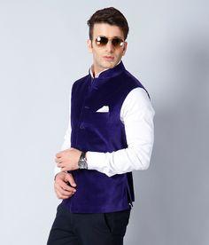 My Blue Nehru Jacket