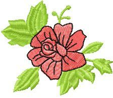 Small Rose free machine embroidery design. Machine embroidery design. www.embroideres.com