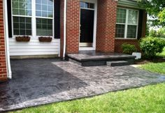Midnight Tuscan Slate Porch/Patio in Lewis Center, Ohio