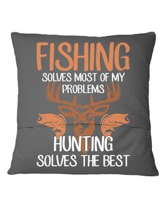 Fishing Solves Of My Problems Hunting T-Shirt - Charcoal Grey #IAFF #food #drink fishing fry, fishing rod holder, fishing rod building, back to school, aesthetic wallpaper, y2k fashion