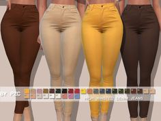 -High Waisted Denim Jeans with 30 colours. Found in TSR Category 'Sims 4 Female Everyday' Mods Sims 4, Sims 4 Game Mods, Sims 4 Mods Clothes, Sims 4 Clothing, Sims 4 Cc Folder, Sims 4 Black Hair, Classy Outfit, High Waisted Denim Jeans, High Waist Skinny Jeans