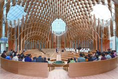 shinslab iisac envisions light of life church surrounded by trees