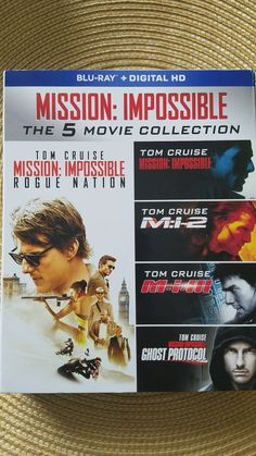 Mission Impossible 5 Movie Box Set Collection Blu-Ray DVD