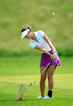 Michelle Wie, first round of NW Arkansas Championship, June 1 shot out of the lead at the end or round Girl Golf Outfit, Cute Golf Outfit, Girls Golf, Ladies Golf, Golf Clubs For Beginners, Lpga Golf, Michelle Wie, Golf Theme, Perfect Golf