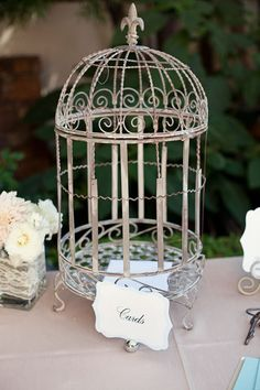 birdcage card holder. already have a cage, this would be perfect!
