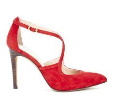 Red Criss-Cross Heels.