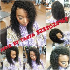 Full head sewin with undetectable lace closure... No hair out