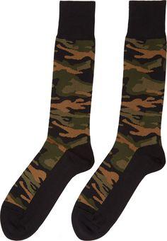 Paul Smith Black & Green Camo Socks