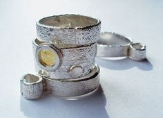 reticulated silver jewelry | ... silver jewellery loop collection rings sterling silver amp 24 ct gold