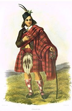 """Clans & Tartans of Scotland by McIan - """"FRASER"""" - Lithograph -1988"""
